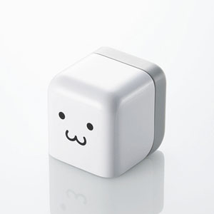 Amazon.co.jp: ELECOM iPod・iPhone AC充電器 cube型 USB FACE AVA-ACU01F1: 家電・カメラ