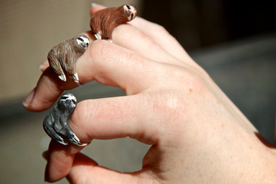 Sloth Ring Made To Order by CuriousBurrow on Etsy