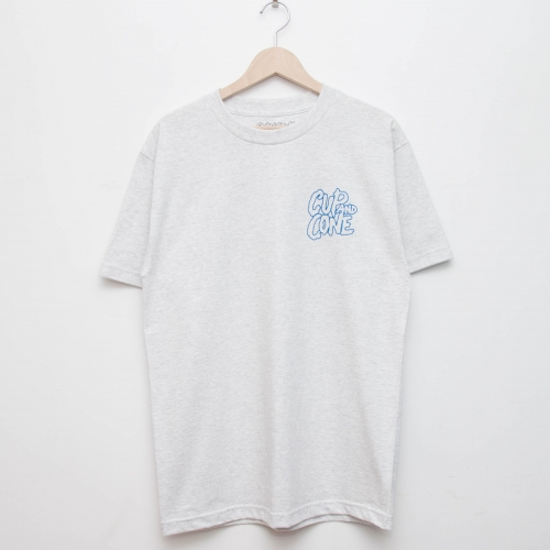 Logo Tee - Ash - cup and cone WEB STORE