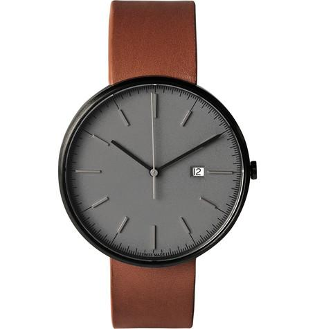 Uniform Wares - M40 PVD-Plated Stainless Steel and Leather Wristwatch