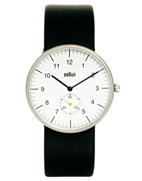 Braun | Braun Quartz 3 Hand Movement Watch BN0024WHBKG at ASOS