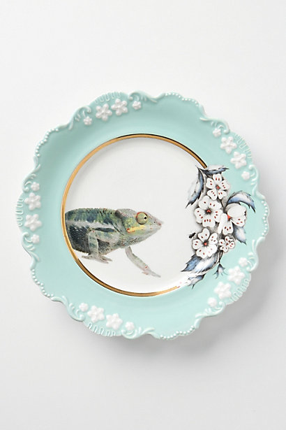 Natural World Dessert Plate, Chameleon - Anthropologie.com