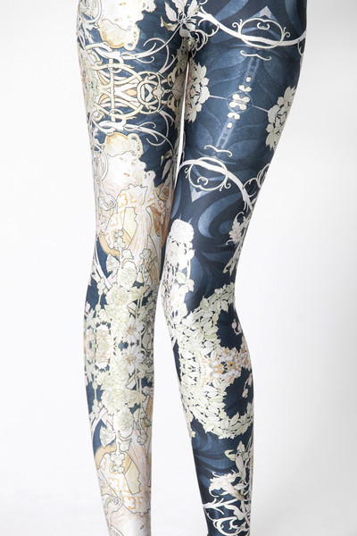 Mucha Black Leggings | Black Milk Clothing