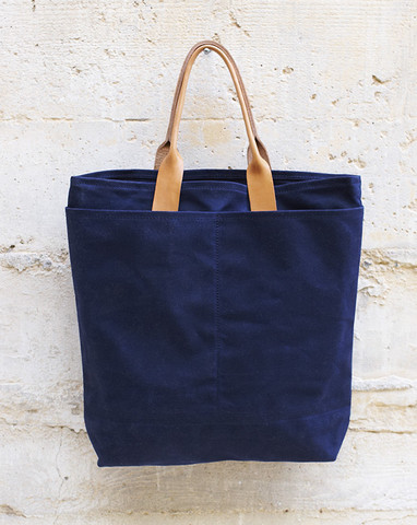 Waxed Canvas Tokyo Bag in Navy By The Good Flock