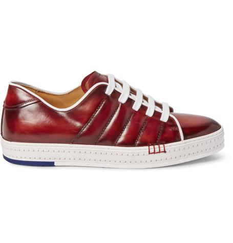 Berluti - Playfield Polished-Leather Sneakers