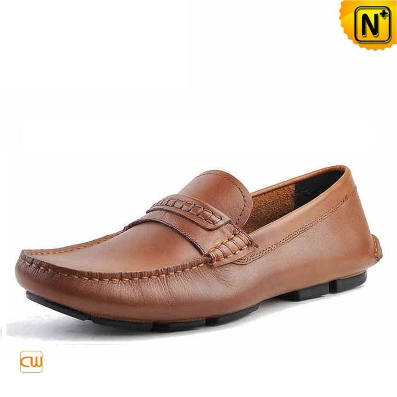 Mens Slip-on Leather Driving Shoes Loafers CW740306