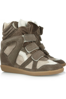 Isabel Marant | Bekett leather and suede sneakers | NET-A-PORTER.COM