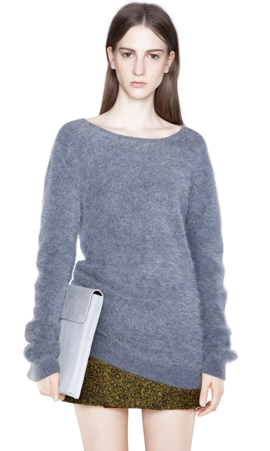 Rakel Angora Grey Melange Shop Ready to Wear, Accessories, Shoes and Denim for Men and Women