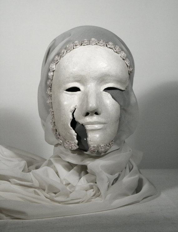 White mask / ROSES by cexn on Etsy