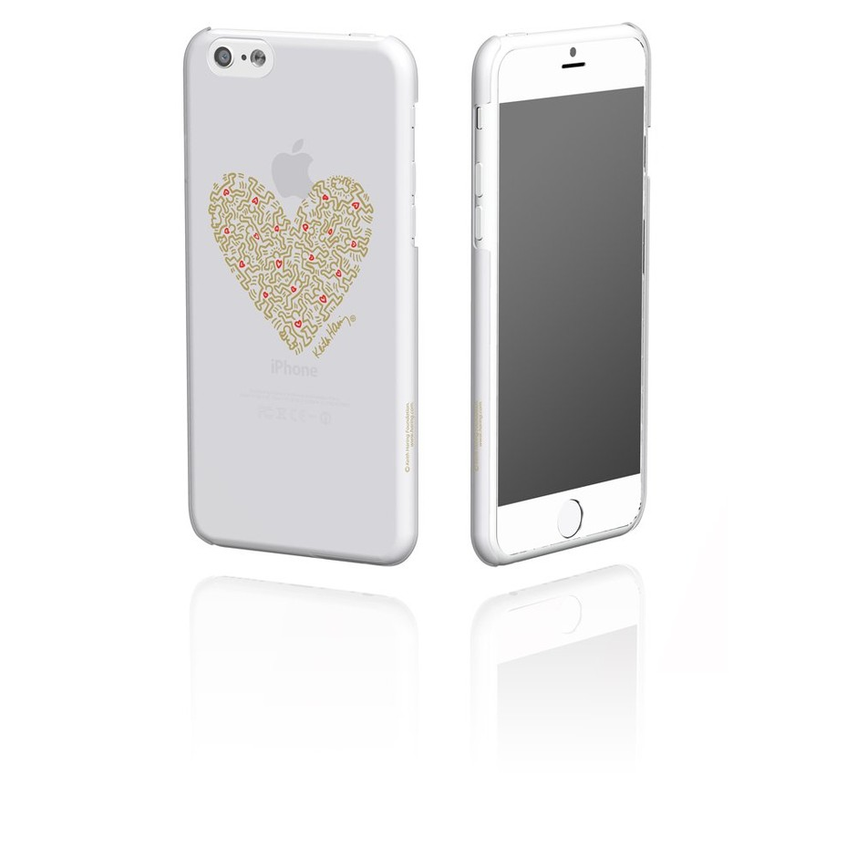 Amazon.co.jp: MSY GRAPHT Keith Haring Collection Ice Case for iPhone 6 Heart/Clear×Gold APA11-001HGOL: 家電・カメラ
