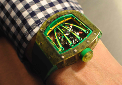 Introducing The Richard Mille 59-01 Tourbillon Yohan Blake: A $620,000 Asymetrical Tourbillon For A Left-Handed Sprinter — HODINKEE - Wristwatch News, Reviews, & Original Stories