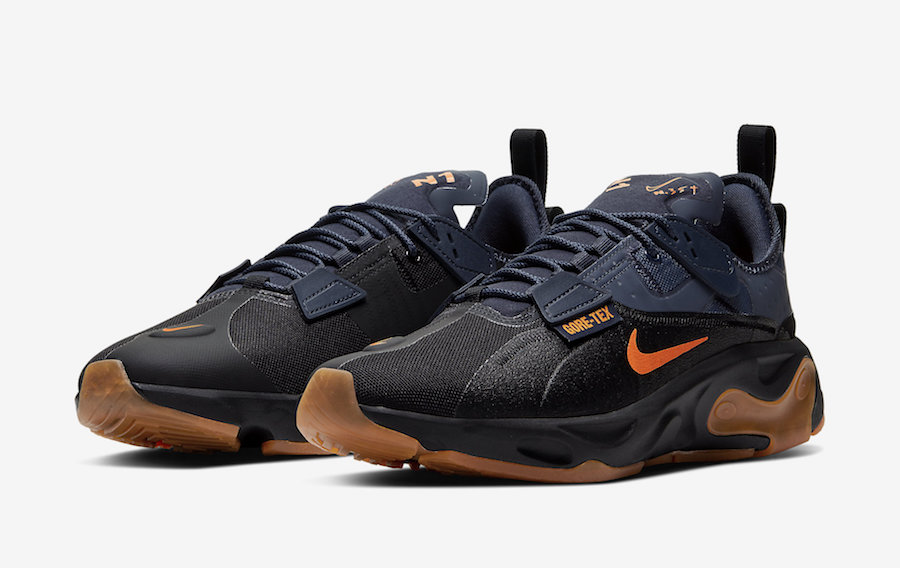 Nike React Type GTX Gore-Tex Black Bright Ceramic Thunder Grey BQ4737-001 Release Date - SBD