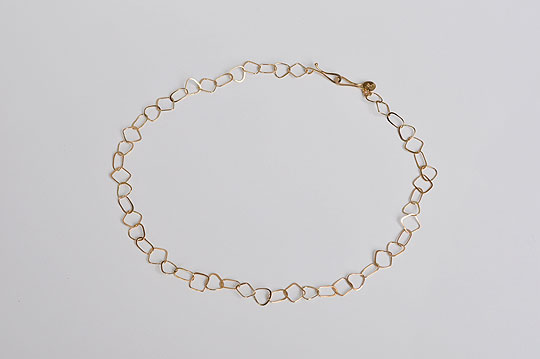 Square, Triangle and Oval Half Flat Chain Necklace (Melissa Joy Manning) - SOURCE objects