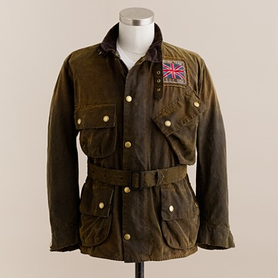 Men's J.Crew in good company - Barbour - Barbour® 75th Anniversary Distressed International jacket - J.Crew