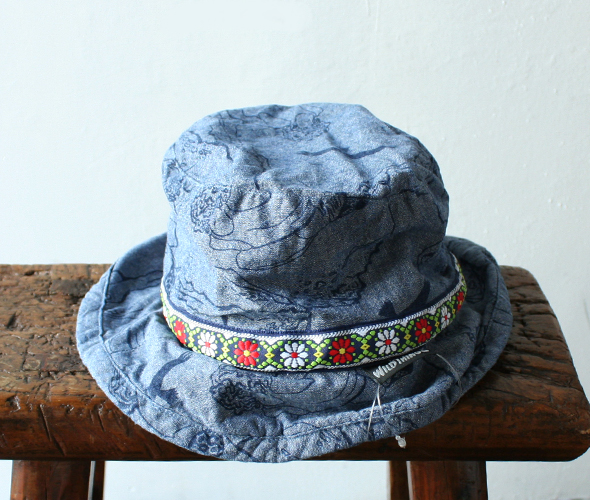 [WILD THINGS] CLIMBER PRINT CHANBRAY HAT