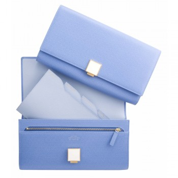 Travel Clutch, Nile Blue Collection, Clutch Bags, Smythson