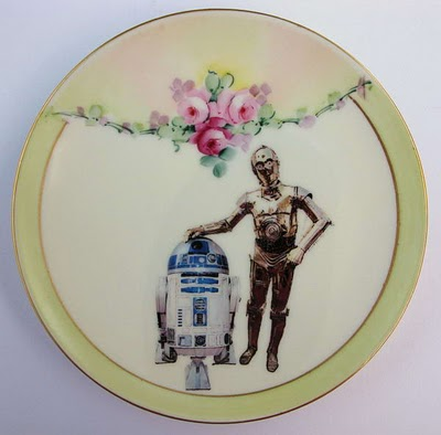 ArtMW: アンティークの皿(スターウォーズ柄)/Antiques Utensils Modifies the Old Dishes (Star Wars Art)