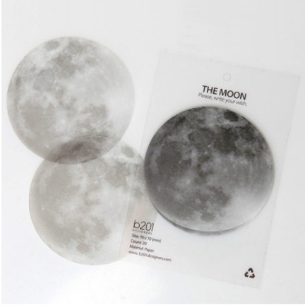 MochiThings.com: Full Moon Sticky Note