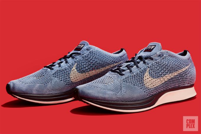 f3b7b19304212 ... Nike Flyknit Racer Indigo Detailed Look