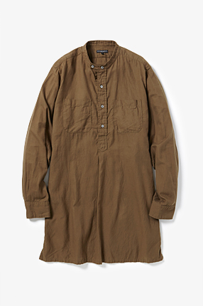 Banded Long Collar Shirt - Brushed Twill|ENGINEERED GARMENTS|COVERCHORD