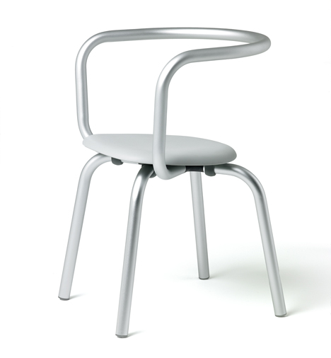 Parrish aluminium tables and chairs by Konstantin Grcic for Emeco