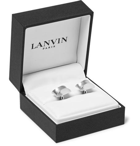 Lanvin - Brushed Silver-Tone Cufflinks