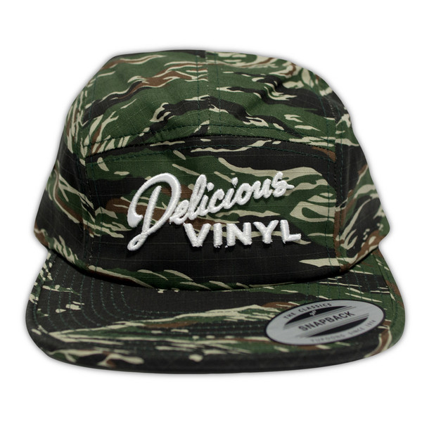 Delicious Vinyl - Adjustable twill cap DV Horizontal logo - green camo