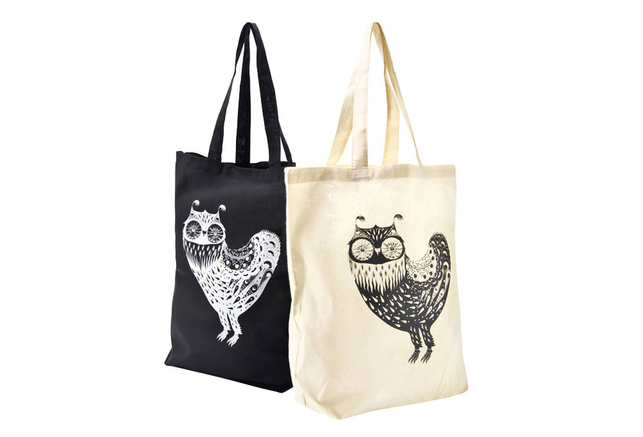 "SIMPLE TOTE BAG ""WONDER THREE"" OWL – Sync."
