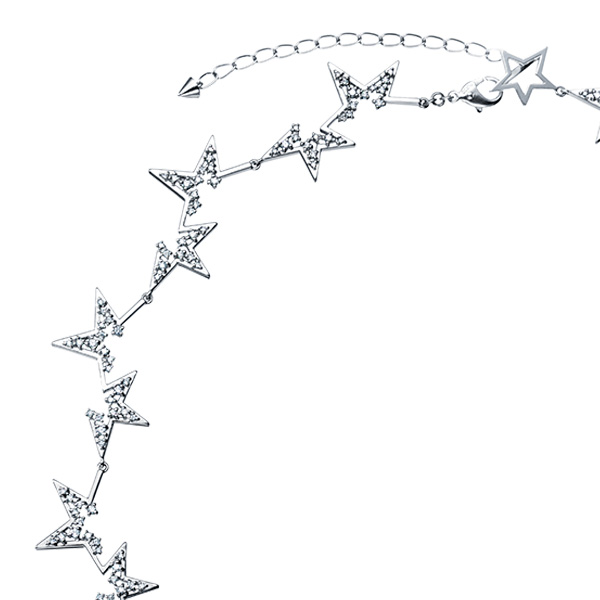 """abstract star Necklace PID-16334-PT900 
