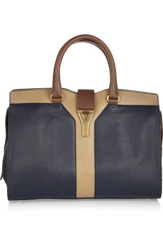 Yves Saint Laurent | Cabas Chyc tri-tone leather tote | NET-A-PORTER.COM