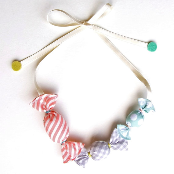 Kid Friendly Ame Candy Necklace by HOMAKO on Etsy