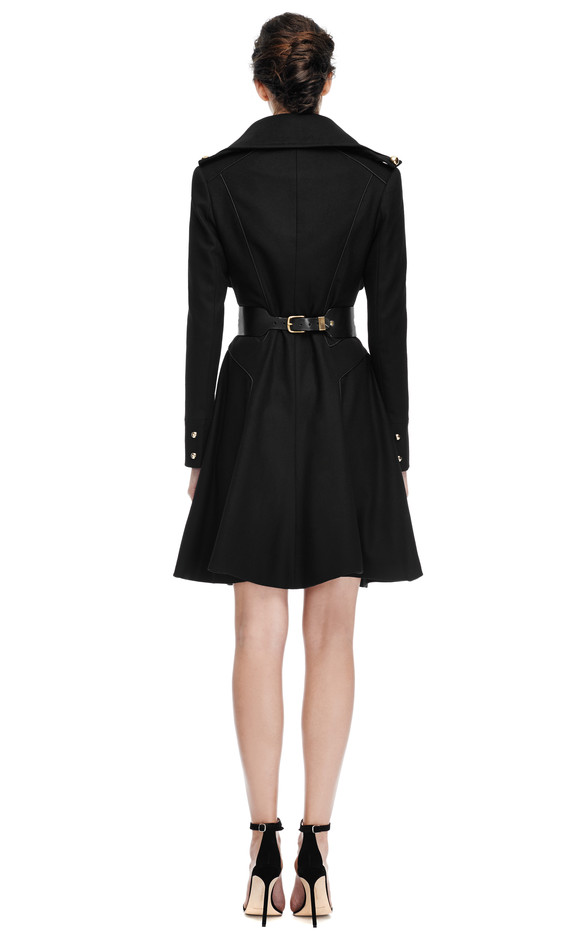 Wool Blend Military Style Coat by Prabal Gurung Now Available on Moda Operandi