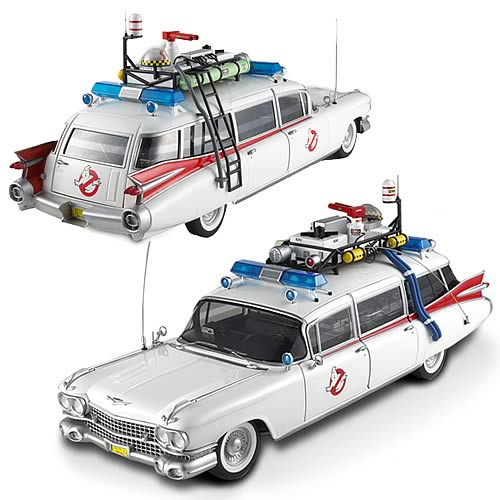 Ghostbusters Ecto-1 Hot Wheels Elite 1:18 Scale Vehicle - Mattel - Ghostbusters - Vehicles: Die-Cast at Entertainment Earth