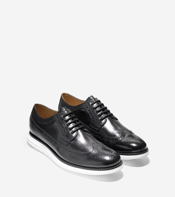 Lunargrand Long Wing in Black Incas Leather | Cole Haan