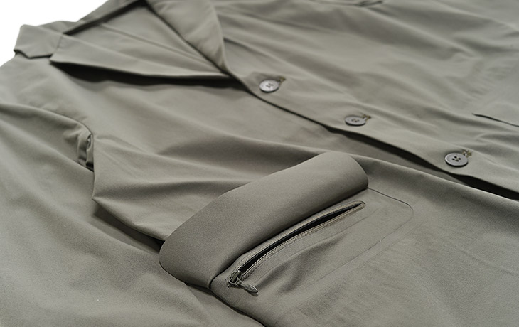 DESCENTE PAUSE/Packable Jacket-Khaki