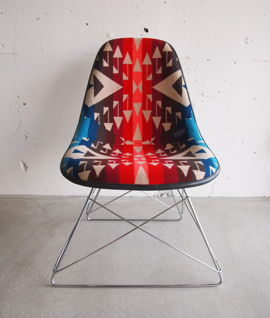 MB7 Refinished Side Shell Chair /MADE BY SEVEN -REUSE- × PENDLETON   HAMMOCK