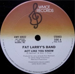 DISCO > 12inch - FAT LARRY'S BAND / ACT LIKE YOU KNOW -