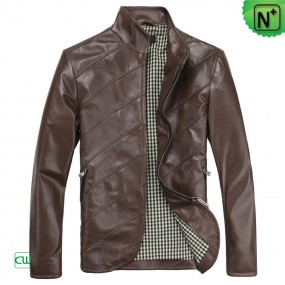 Men's Brown Leather Jackets CW812209