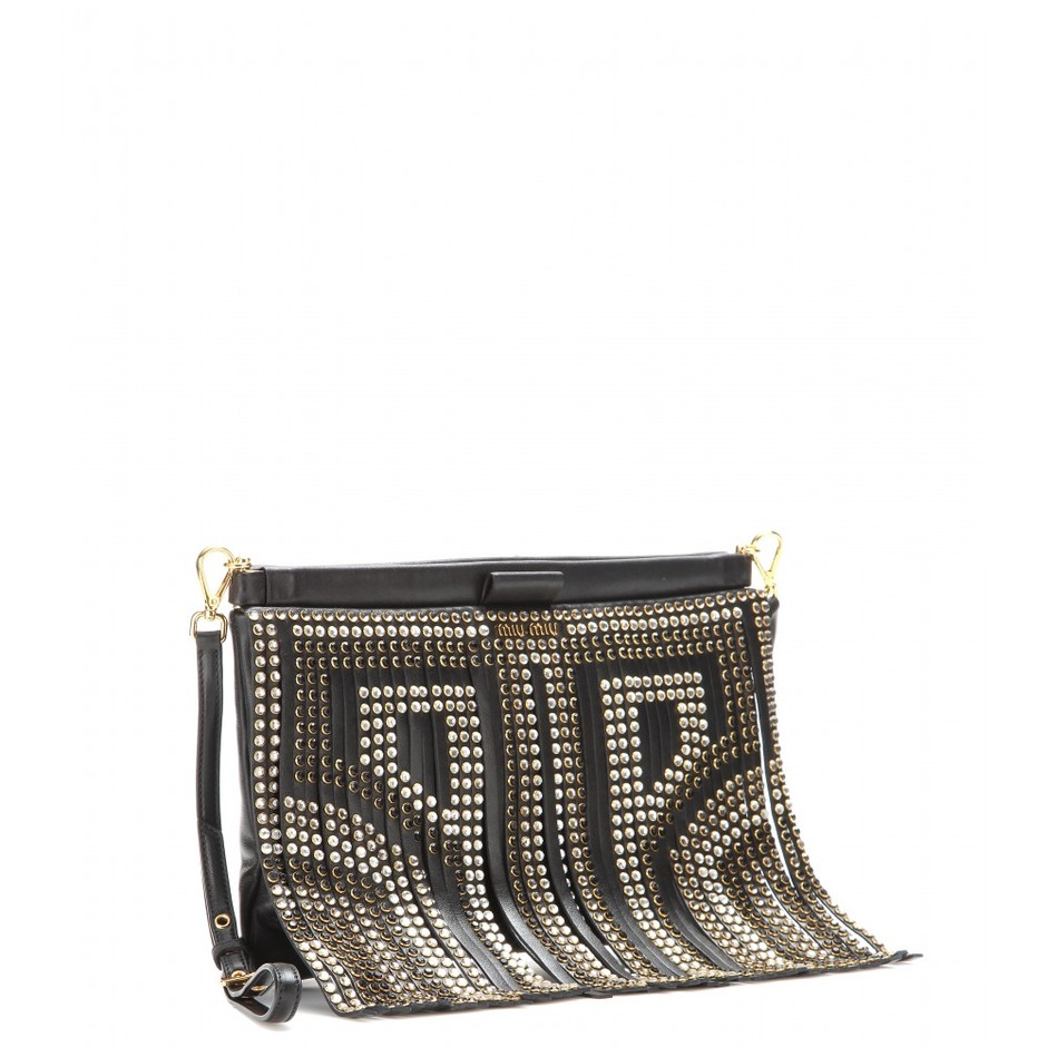 mytheresa.com - Fringed leather clutch - Shoulder bags - Bags - Luxury Fashion for Women / Designer clothing, shoes, bags