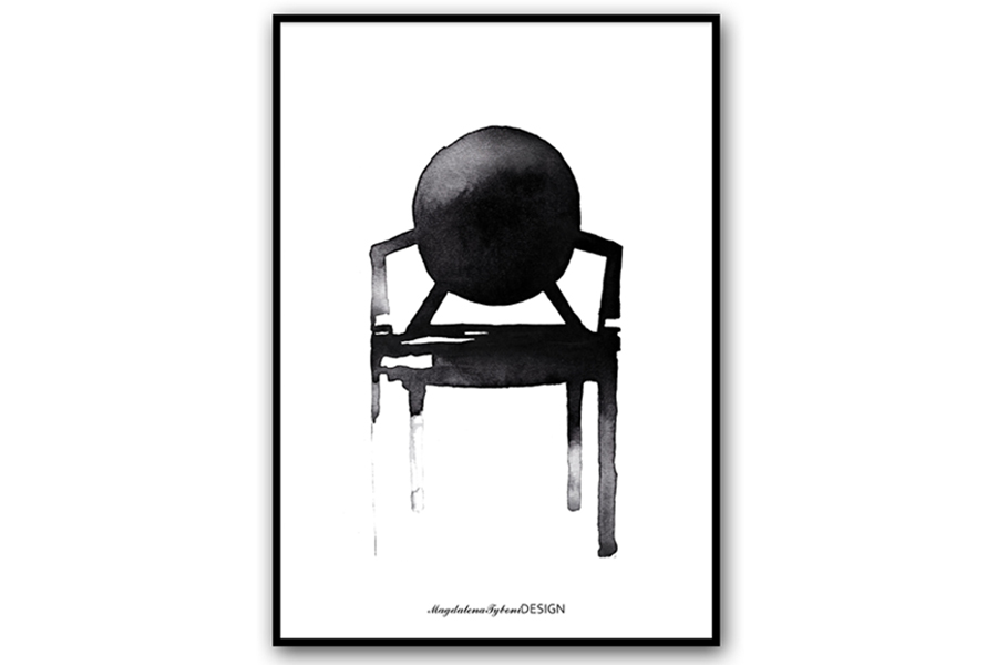 Magdalena Tyboni Design ポスター/アートプリント 50 x 70 cm Chair Ghost