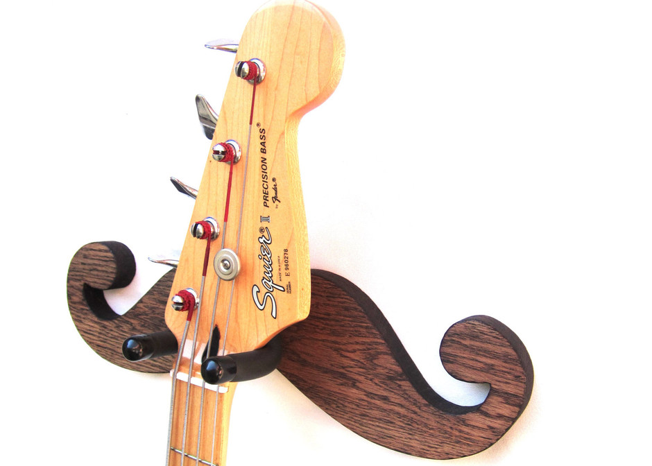 GUITAR HANGERWood Burned Mustache by SpareTimeWoodDesigns on Etsy