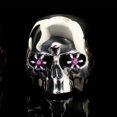 × NUMBER (N)INE SKULL RING STONE EYES -RUBY- | JAM HOME MADE(ジャムホームメイド)公式通販