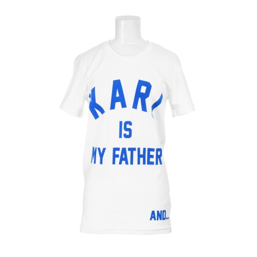 """T-Shirt """"Karl is my Father and colette is my mother! ELEVENPARIS X BAPTISTE GIABICONI X COLETTE - colette ELEVENPARIS X BAPTISTE GIABICONI X COLETTE - colette.fr"""