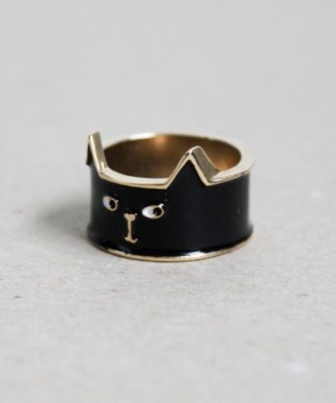 Lazy Oaf | Lazy Oaf | Cat Ring Black