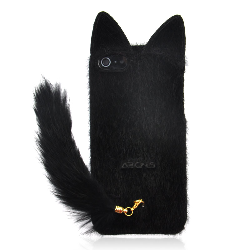 Fluffy Cat with Tail Case for iPhone 4/ 4S from Julyjoy · Storenvy