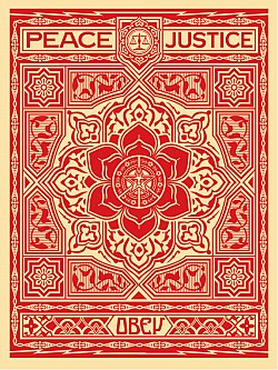 Peace and Justice Ornament (Red)::OBEY GIANT STORE