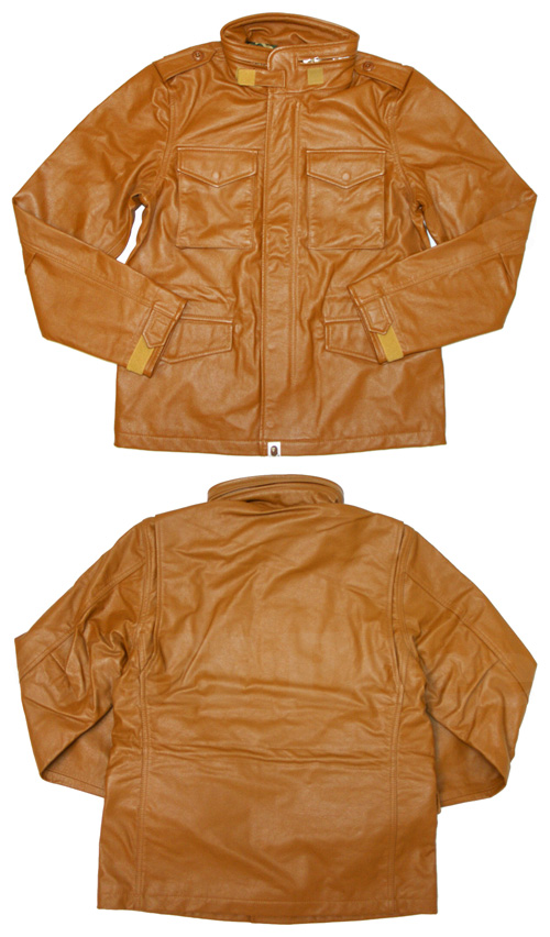 【楽天市場】A BATHING APE(エイプ)LEATHER M-65 ジャケット【新品】BROWN230-000551-046[1870-141-050]-【smtb-TD】【yokohama】:Cliff Edge