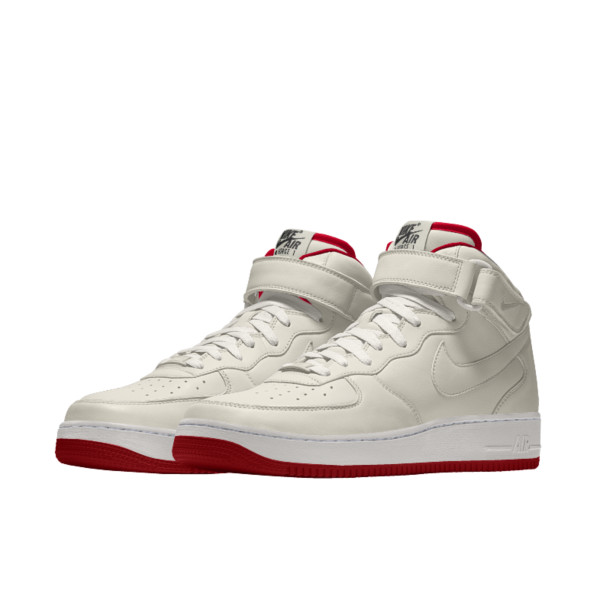 Air Force 1 Mid By You (sail/white/red