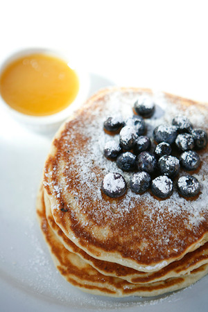 Pancakes with Warm Maple Butter