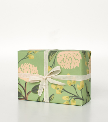 Rifle Paper Co. - Emerald Peonies Wrapping Sheets